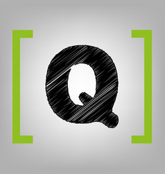 letter q sign design template element vector image