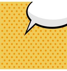 pop art comic speech bubble vector image vector image