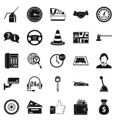 serv icons set simple style vector image