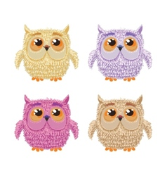Set of cartoon owls for wisdom or education vector image vector image
