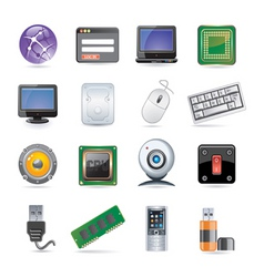 Technology icon set vector