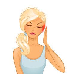 woman headache vector image vector image
