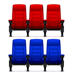 Cinema empty comfortable chairs realistic movie vector
