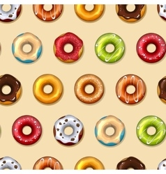 Donuts seamless pattern vector image vector image