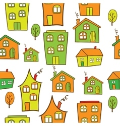 houses seamless vector image