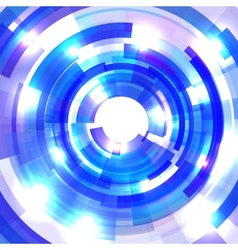 Shining blue circle tunnel vector image