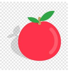 apple isometric icon vector image vector image