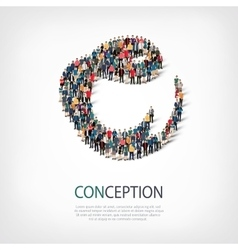 conception people sign 3d vector image