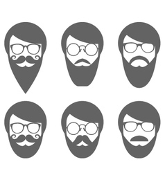 Face of bearded man - lumbersexual vector image vector image