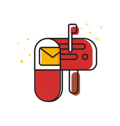 flat style of mailbox vector image