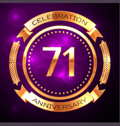 seventy one years anniversary celebration with vector image vector image