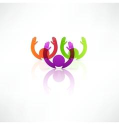 Successful team icon vector image