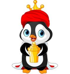 The Penguin as a Biblical Magi vector image vector image