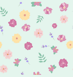 abstract flower seamless pattern background eps10 vector image