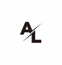 Al logo letter monogram slash with modern logo vector