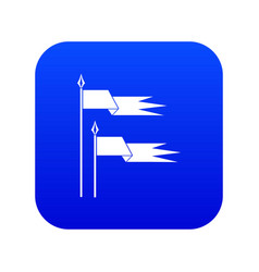 Ancient battle flags icon digital blue vector