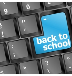 Back to school key on computer vector image