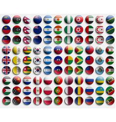 badge of icon from flags of countries world set vector image