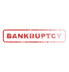 Bankruptcy rubber stamp vector