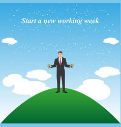 Beginning work week vector