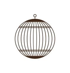Birdcage silhouette vintage icon vector