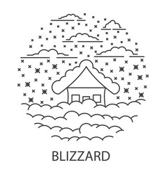 Blizzard natural disaster vector