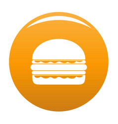burger icon orange vector image