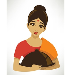 Cartoon indian menu vector