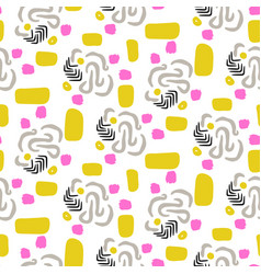 chaotic abstract shapes seamless yellow and vector image