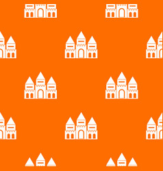 Children house castle pattern seamless vector