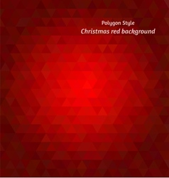 Christmas red tints polygon background vector image
