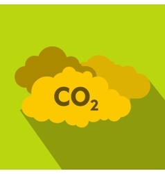 Co2 sign and cloud icon flat style vector