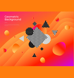 colorful abstract geometric background gradient vector image