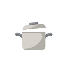 cooking saucepan isolated icon in flat style vector image