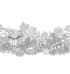 coral reef line horizontal pattern vector image