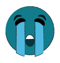 crying eyes emoji icon image vector image
