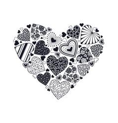 decorative heart shape vector image vector image