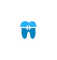 dental logo icon design vector image