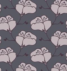 Fabric design flower gray vector
