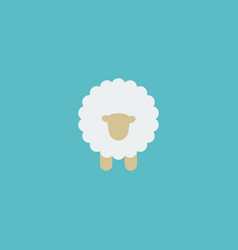 flat icon sheep element of vector image