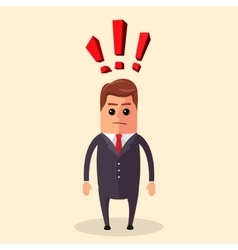 Flat Manager character or vector image