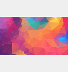 flat multicolor triangle geometric wallpaper vector image