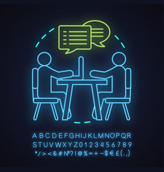 friendship neon light concept icon vector image