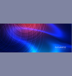 Futuristic blue technology style background vector