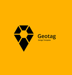 Geotag with shield or location pin logo icon vector