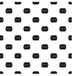 Hamburger pattern vector
