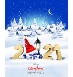 holiday christmas winter background with a vector image