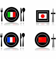 International cuisine vector image