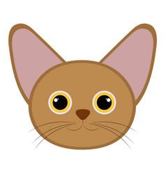 isolated cute cat avatar vector image