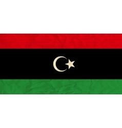 Libya paper flag vector image